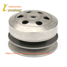 GY6 50 80cc 100 Clutch Pulley Assy Driven Wheel Assembly Belt Pulley Scooter Engine parts Bike