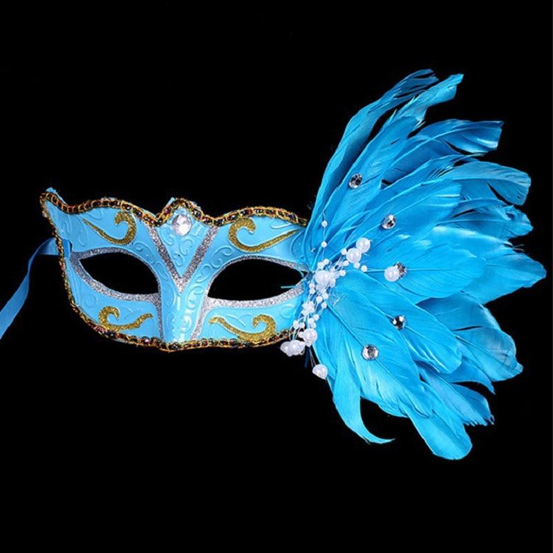 100 Teile/los Maskerade Feder Sexy Venezianische Maske Frauen Half Face Multi Farbe Prinzessin Maske Hallowmas Feder Masken Za4510 Event & Party Partei Masken
