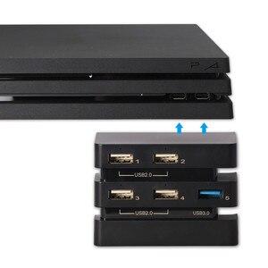PS4 akcesoria Pro przedłużenie adaptera HUB play station 4 Pro Host USB Hub 3.0 i 2.0 Port USB Adapter konsoli do gier Playstation