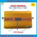 Pantalla LCD de alta calidad gsm repetidor 900 mhz amplificador de señal de teléfono celular, 70dbi FDD 2G GSM amplificador de señal amplificador + cargador de la energía