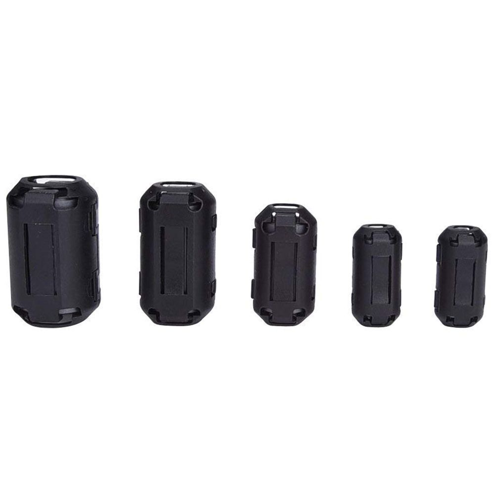20 Pieces Clip-on Ferrite Ring Core RFI EMI Noise Suppressor Cable Clip for 3mm/ 5mm/ 7mm/ 9mm/ 13mm Diameter Cable 20 Pieces Clip-on Ferrite Ring Core RFI EMI Noise Suppressor Cable Clip for 3mm/ 5mm/ 7mm/ 9mm/ 13mm Diameter Cable