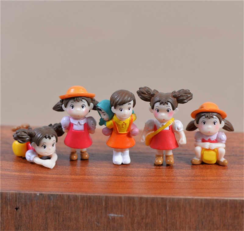 5pcs/set Cartoon Action Figure Hayao Miyazaki Film Miniature Figurines PVC Japanese Cute Anime Kids Birthday Gift