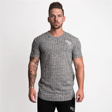 Men Short sleeve Quick dry Tight t shirt Man Summer Gyms Fitness Workout T-shirt Male Jogger Tees Tops Casual Fashion Clothing(China)