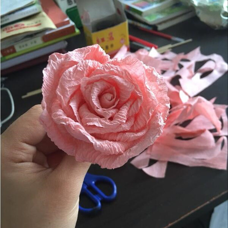 1 roll 50 x 250cm crepe paper flower making wrapping diy 1 roll 50 x 250cm crepe paper flower making wrapping diy scrapbooking craft crinkled paper gifts packing home wedding decoration in party diy decorations mightylinksfo
