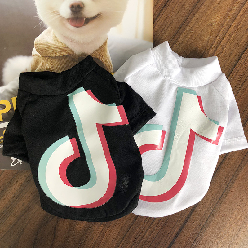 HU Pet Dog Black and White Clothes Golden Retriever Hoodie French Bulldog Schnauzer Teddy Puppy Clothes Dog Costume Pet Supplies
