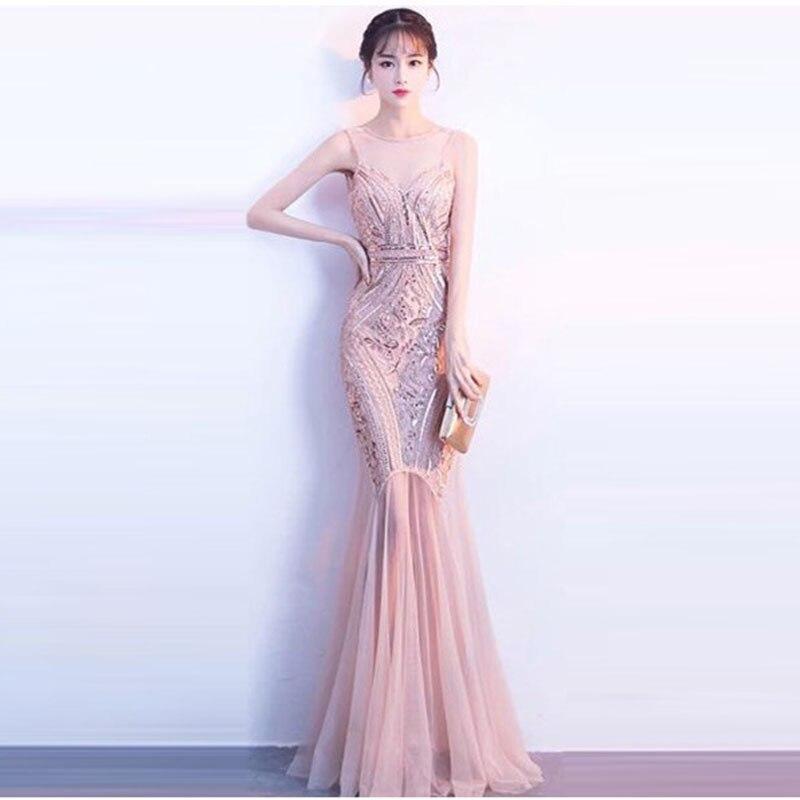 Mulheres Sexy Vestido De Malha Elegante Lantejoulas