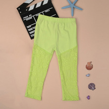 Newest Baby Girl Leggings Kid Child Lace Stretch Cropped Pants Ballet Render Pant Panties