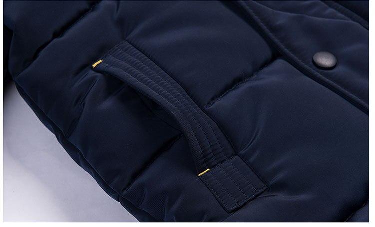 2018 Winter Girls Warm Jacket Kids Long Style Hooded Coat Children Plus Velvet Cotton Jacket Girl Thick Cotton Padded Outwear (19)