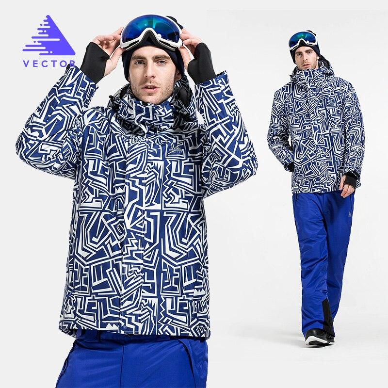 Vector marque veste de Ski et pantalon hommes chaud hiver snowboard costume imperméable coupe-vent Ski neige costume hommes HXF70012 - 4