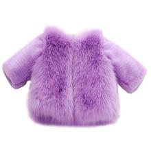 New 2017 Girls Jacket Winter Girls Fashion Coat Children Clothing Luxury Faux Fur Kids Coat Girl Thick Winter Outerwear