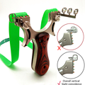 Fiber optic precision aiming slingshot outdoor hunting stainless steel with solid wood patch using flat rubber band slingshot