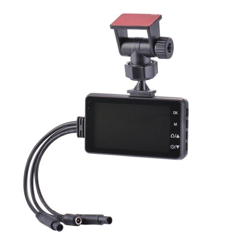 Caméra de moto DVR moteur Dash Cam avec enregistreur avant arrière à double piste spécialisé
