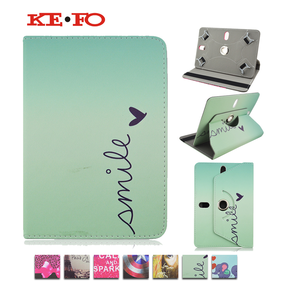 HOT! 360 Rotation PU Leather case For Huawei MediaPad 7 Youth S701W flip cases with stand cover Universal 7.0 inch bags