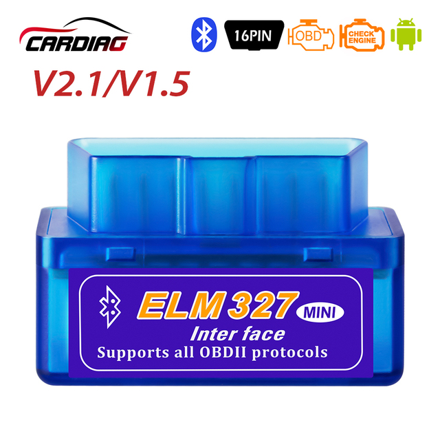 Super Mini ELM327 V2.1/V1.5 Bluetooth OBD2 Auto Diagnostic Tool ELM 327 Werkt Op Android/Windows Elm- 327 OBDII Auto Adapter