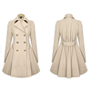 High Quality Long Girl And Mother Coats Long Sleeve Apricot Dress Jackets Ink Blue Ladies Parka