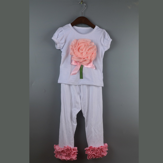 3 обледенение оборками футболки набор цветок оборками рубашки homesuit девушка футболки dress