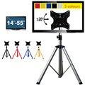 Altura Ajustável Dobrável Móveis TV Montagem Suporte de Chão Display Rack Suporte Rotação de 360 Graus 14-55 polegada Do Monitor