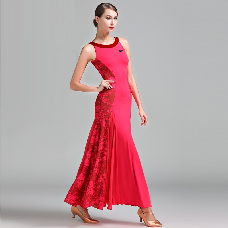 Women Sexy Dancing Dress Lady Sexy Ballroom Dance Competition Suit Female Modern Waltz Tango Standard Stage