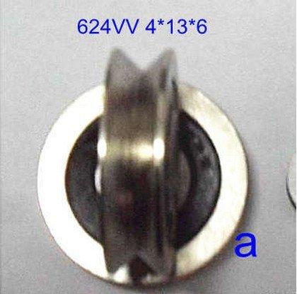 10 шт. 4 мм 624VV 4*13*6 в паз герметичные шарикоподшипники 0,157 ''vgroove подшипник