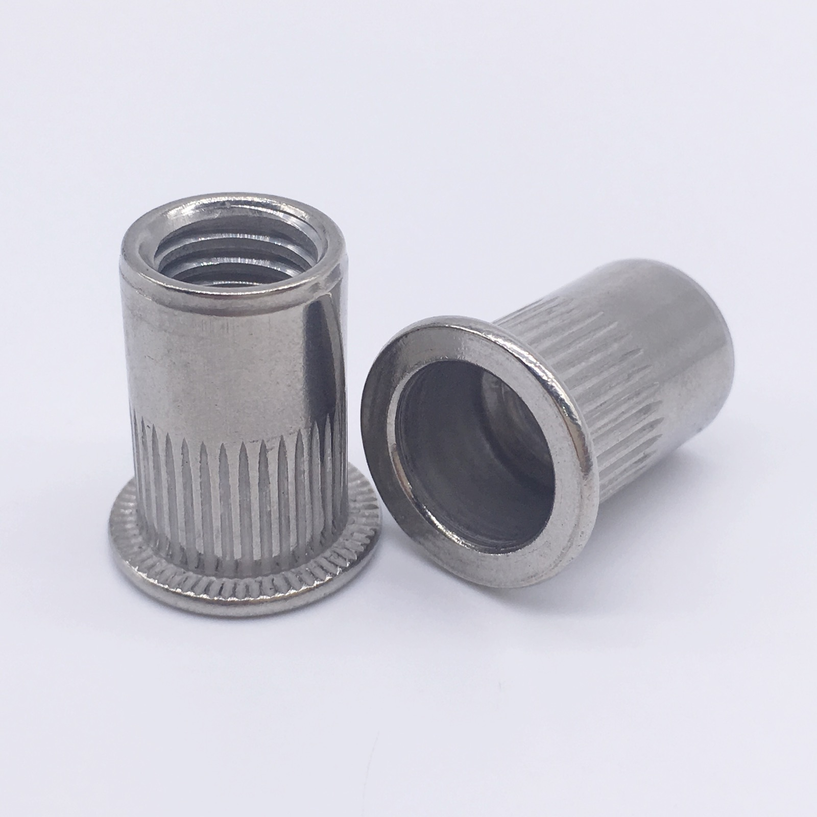 Rivet Nuts Threaded Inserts Blind Nuts Nutserts Rivnut Flat Head Stainless Steel M3 M4 M5 M6 M8 M10 M12 m2 5 pem nuts standoffs blind rivet captive nuts self clinching blind fasteners