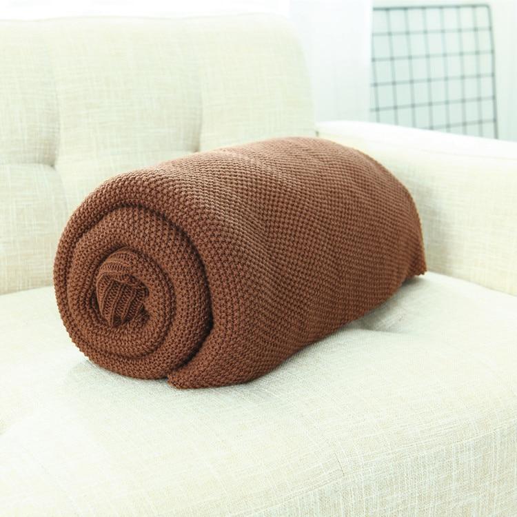 пледы вязаное одеяло покрывало плед для кровати дивана покрывало