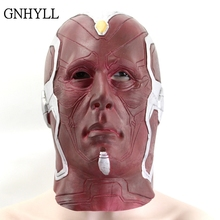 GNHYLL Captain America Vision Mask Realistic Superhero Halloween DC Movie Latex Cosplay Costume Props