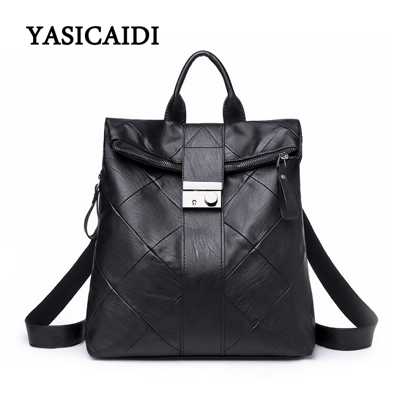 Fashion Leisure Women Backpacks Women PU Leather Backpacks Diamond Lattice school Shoulder bag for teenage girl Travel Back pack women backpack black red fashion style school daypacks funny quality pu leather small shoulder bag teenage girl travel back pack
