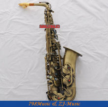 Antique Bronzy Eb Alto Saxophone High F# With-Abalone Buttons
