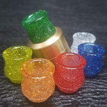 Tsondianz Resin 810 Atomizer Drip Tip Bling Color For font b Electronic b font Cigarette Rda