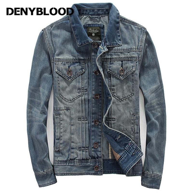Denyblood Denim Veste Survêtement Hommes Hiver Automne Jeans 0kwnOP
