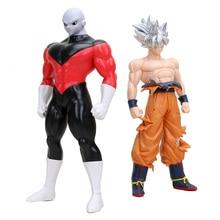 Dragon Ball Super Ultra instynkt GOKU Jiren rysunek Migatte zabawki figurki akcji Model Goku biały bóg DBZ figurki