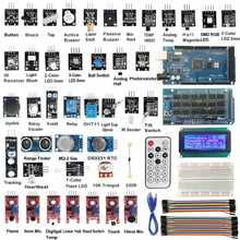 1PC New ARRIVAL MEGA2560 R3 40 SENSOR โมดูล Starter Kit IIC 20X4 จอแสดงผล LCD 2004 สำหรับ Arduino เซ็นเซอร์