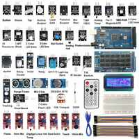 1PC New Arrival MEGA2560 R3 40 Sensor Modules Starter Kit IIC 20X4 2004 LCD Display For Arduino Sensors
