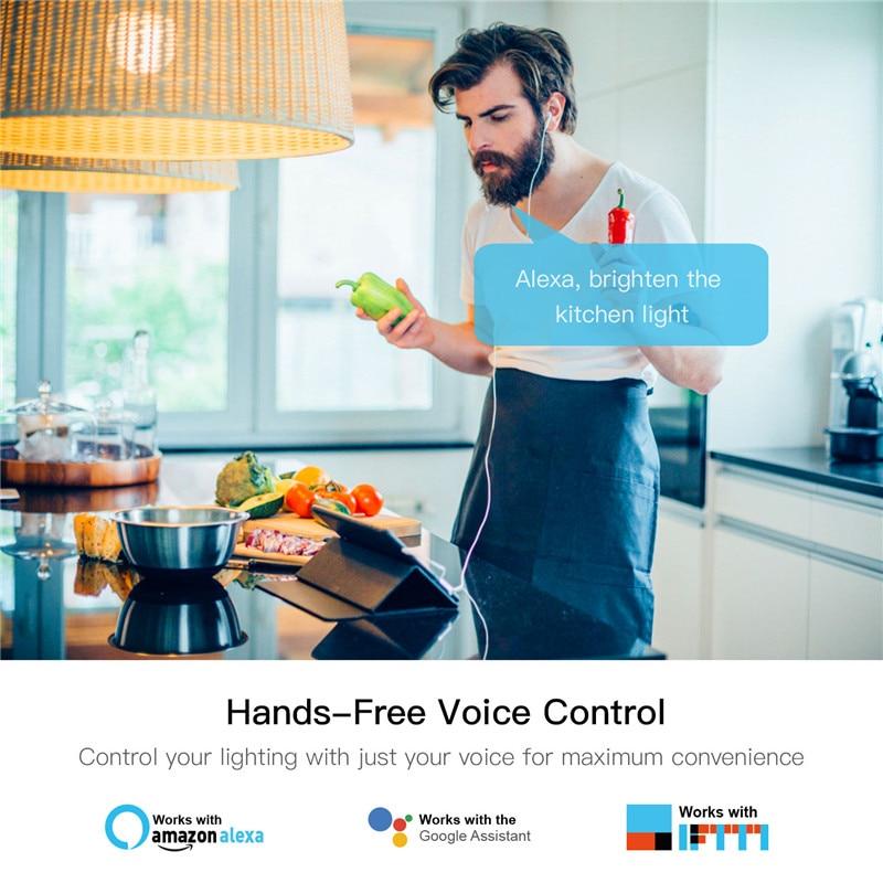 DIY умный WiFi свет светодиодный диммер переключатель Smart Life/Tuya приложение дистанционное управление 1/2 переключатель, работает с Alexa Echo Google Home - 2