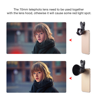 APEXEL mobile phone lens 70MM 2.5X HD SLR Telefon telescope camera lens bokeh Portrait for iPhone6 7 Xiaomi Android smartphone