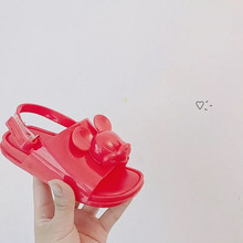 Melissa 2019 Three-dimensional Kids Twins Mouse Head Shoes New Winter Jelly Shoe Sandals Girl Non-slip Sandal Toddler