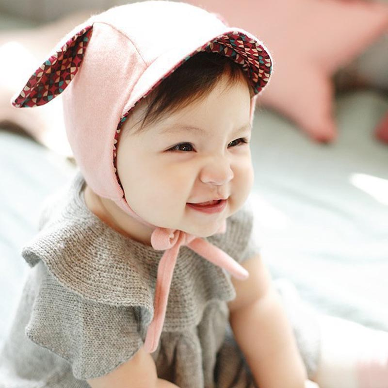 0-2Y 1 PCS Cute Rabbit Long Ear Hat Baby Bonnet Kids Girls Boys Baby Hat Photo Props Yellow/Pink Chidren Winter Bomber Hats