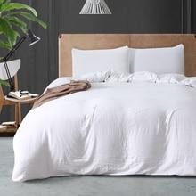 2/3 PCS Pure White Soft Duvet Cover Set Twin Queen King Size Bedding Set Single Double Bed Linens Adult Bed Set