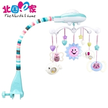 Baby Bed Bell 0-1 Year Old Newborn 0-12 Months Toy Rotating Music Hanging Baby Rattle Bracket Set Lovely Baby Crib Mobile Holder