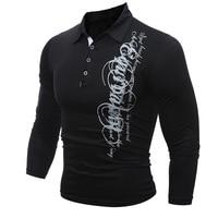 T Shirt Men 2017 Brand Male Long Sleeve Hip Hop Print Ing Lapel Button T Shirts