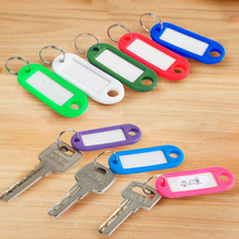 Fashion Exquisite 1PC /5PCS Hotels Colorful Plastic Keychain Fobs Language ID Tags Labels Key Rings