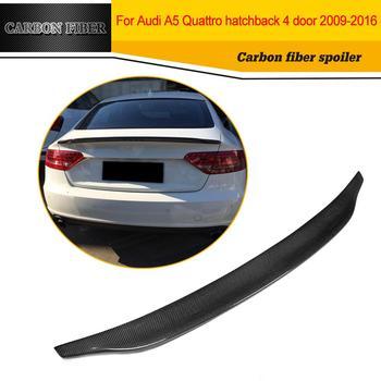 Car Styling Carbon Fiber Rear Wing Spoiler Car Boot Lip For Audi A5  4-Door 2009-2016