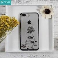 Devia用iPhone7プラス5.5インチ電話ケースクリスタルの装飾パターンメッキpcハードケースiphone用7プラスカバーバッグ黒/