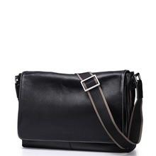 2016 New Classic Men's Genuine Full Grain Leather Shoulder Bag Casual Satchel Crossbody Messenger Bag