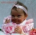 NPKCOLLECTIO 55 см силиконовая кукла Reborn Baby Doll Kid Playmate подарок для девочек Детская мягкая игрушка для букетов кукла Bebes Reborn Toys