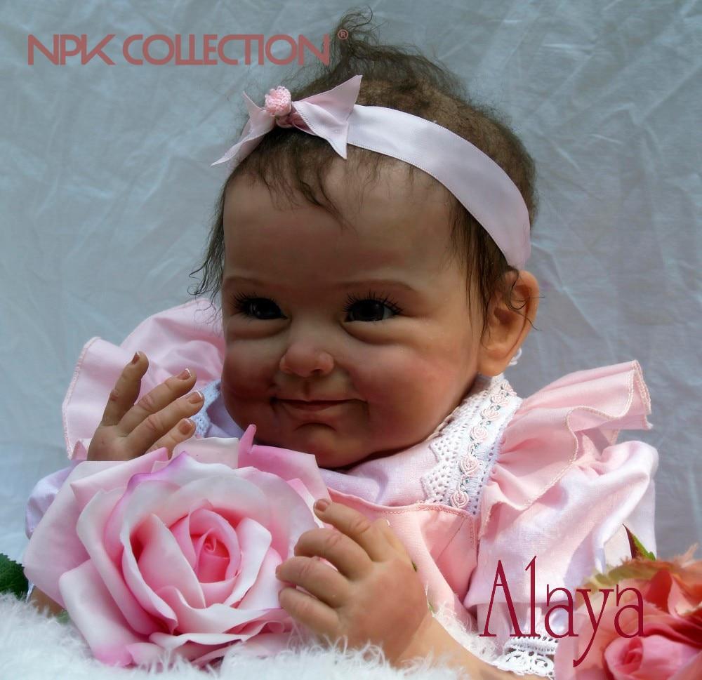 NPKCOLLECTIO 55 cm Silikon Reborn Baby Puppe Kinder Playmate Geschenk für Mädchen Baby Lebendig Weiche Spielzeug für Bouquets Puppe Bebe reborn Spielzeug
