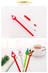 Image 5 - 40 Pcs Weihnachten Gel Cute Santa Claus Stift für Schreiben Schule Büro Weihnachten Geschenke Nette Stationäre Weihnachten Neuheit Gel Stifte