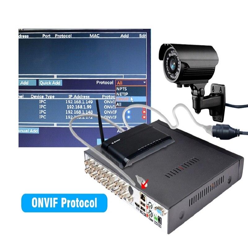 Enregistreur vidéo DVR 16CH 8CH 4CH CCTV pour caméra analogique CVBS AHD caméra IP Onvif P2P 1080P enregistreur vidéo Surveillance DVR - 5
