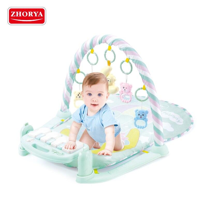 Zhorya bébé activité jeu tapis bébé Gym éducatif Fitness cadre multi-support haute qualité tapis jouer poser assis jouet avec Piano
