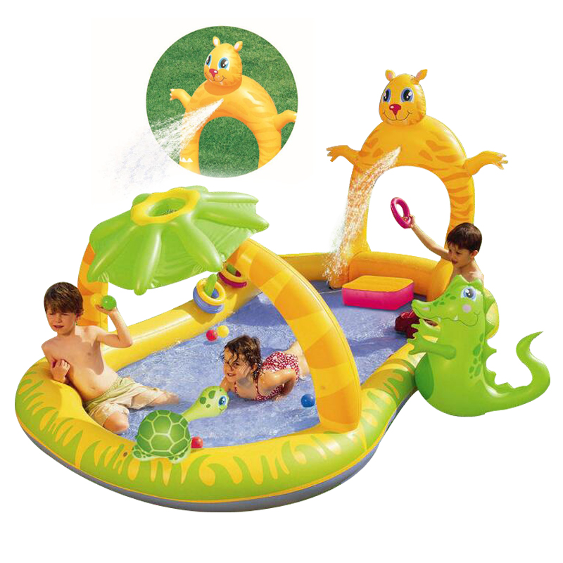 280*170*137CM High quality color baby swimming pool children water recreation pool garden toys thicker deluxe high quality children baby swimming pool large inflatable swimming pool water playing pool c01